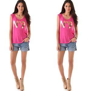HTF: Wildfox ❦ No9 Muscle Tee ❦ Malibu Barbie Pink